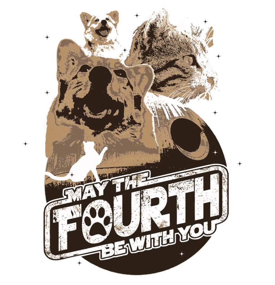 May The Fourth Be With You Pet Logo