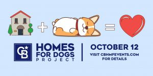 cartoon home with dog equals love